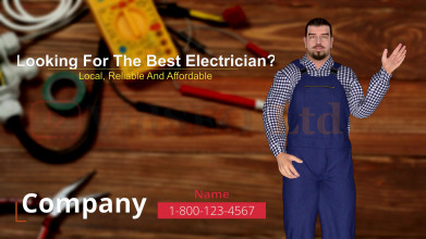 Electrician 3D Animation Presentation Video
